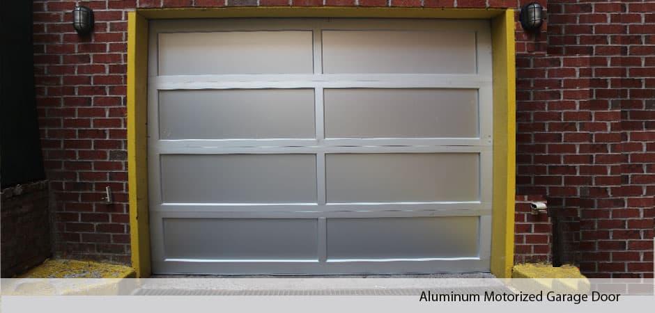 Aluminum-Motorized-Garage-Door