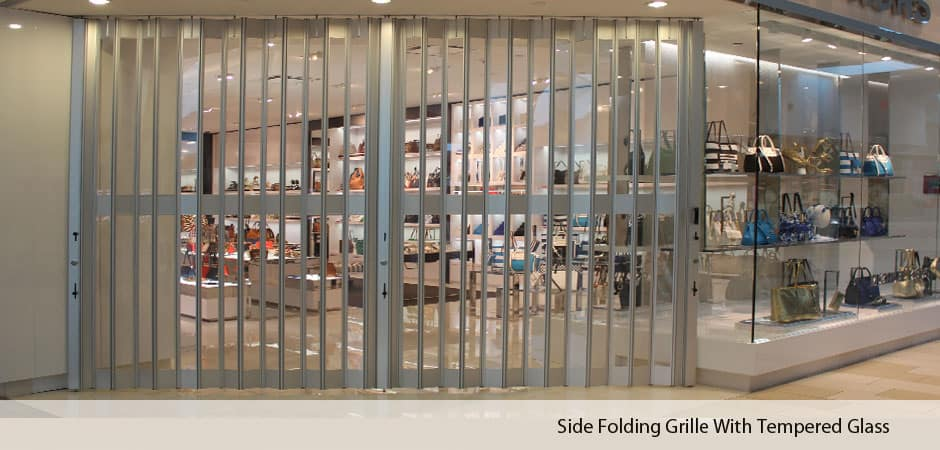 Side-folding-grille-with-tempered-glass