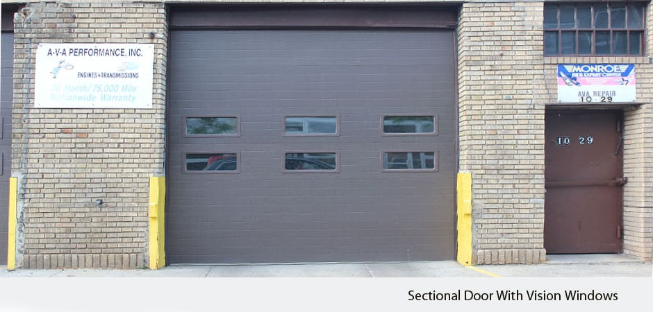 Sectional-Door-With-Vision-Windows