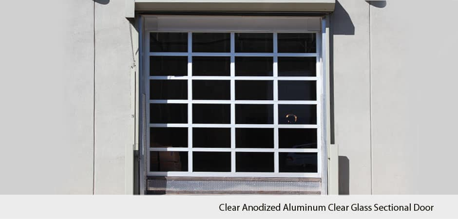 Clear-Anodized-Aluminum-Clear-Glass-Sectional-Door